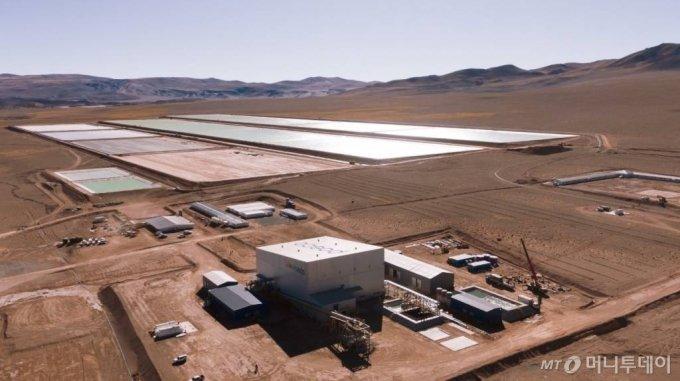 포스코 아르헨티나 리튬 데모플랜트 전경. PosLX공장 및 리튬 염수저장시설