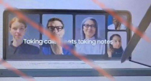 삼성전자가 만든것으로 추정되는 갤럭시Z 폴드3 홍보 영상 화면. S펜이 지원되는 것을 강조한다.  /사진=샘모바일