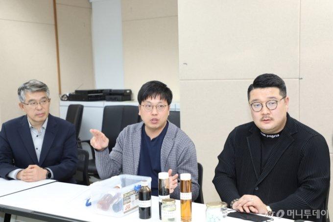 (왼쪽부터) 도시유전 박경민 고문, 함동현 사업총괄본부장, 정영훈 대표/사진=머니투데이