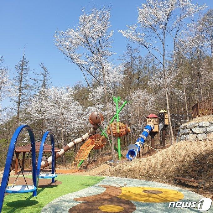 청주 옥화자연휴양림 숲속놀이터.(청주시 제공).2021.5.26/© 뉴스1