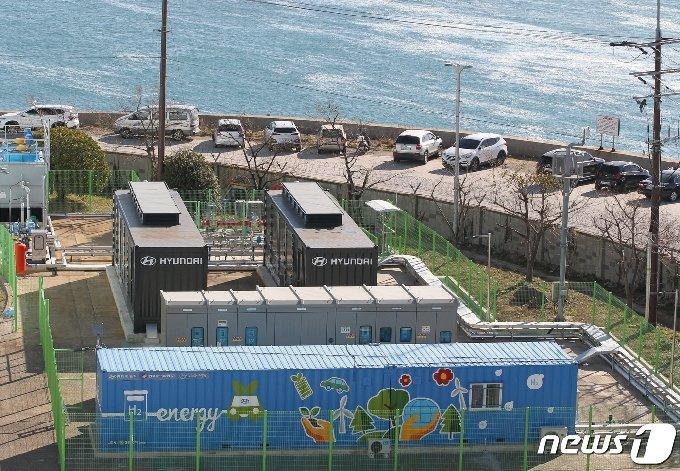 동서발전 울산발전본부 내에 위치한 수소연료전지 발전시스템 전경. (동서발전 제공) © 뉴스1