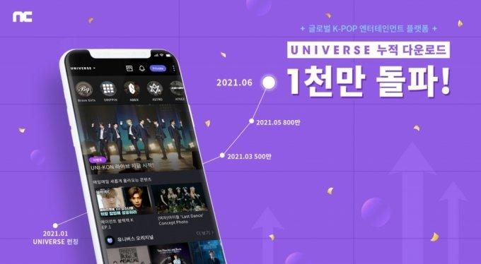 엔씨의 'K-팝' 플랫폼 유니버스, 1000만 다운로드 돌파