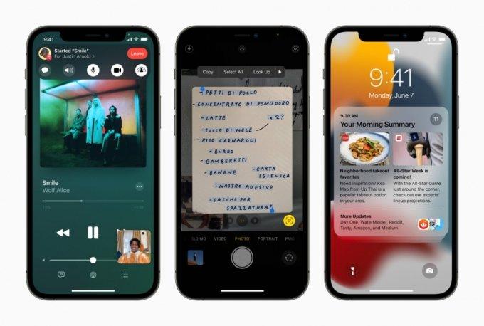 애플 iOS15 새 기능 이용 모습 /사진=애플