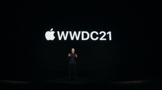 애플 연례 행사인 WWDC21 행사에서 팀 쿡 애플 CEO가 기조 발표를 하고 있다. /사진=애플