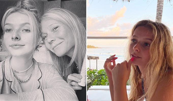 할리우드 배우 기네스 펠트로와 딸 애플 마틴/사진=기네스 펠트로 인스타그램