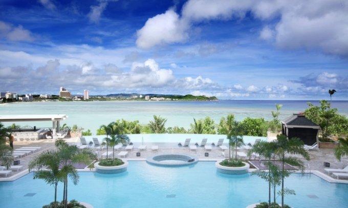 롯데호텔 괌에서 바라본 바다 전경. /사진=롯데호텔