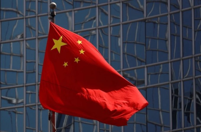 지난해 4월 29일 베이징 시내 중국 국기가 바람에 펄럭이고 있다. /사진=로이터/뉴시스