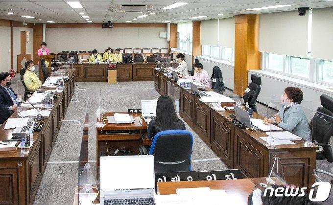 11일 북구의회 소회의실에서 195회 1차 정례회 2차 본회의를 가졌다.(울산 북구의회 제공)© 뉴스1