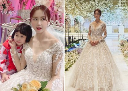 """'유준상♥' 홍은희, 웨딩드레스 자태 """"오늘은 또 무슨 일이"""""""