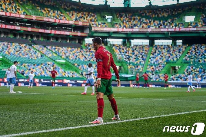 포르투갈 대표팀 호날두. © AFP=뉴스1