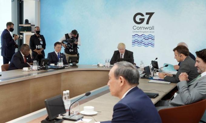 G7정상들이 文대통령의 '탄소중립·그린뉴딜' 경청했다
