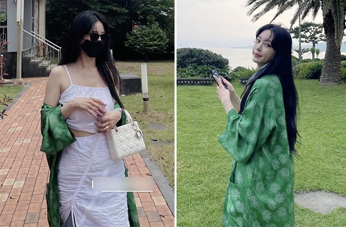 한예슬, 아찔한 트임 패션…'10살 연하' 남친과 제주여행