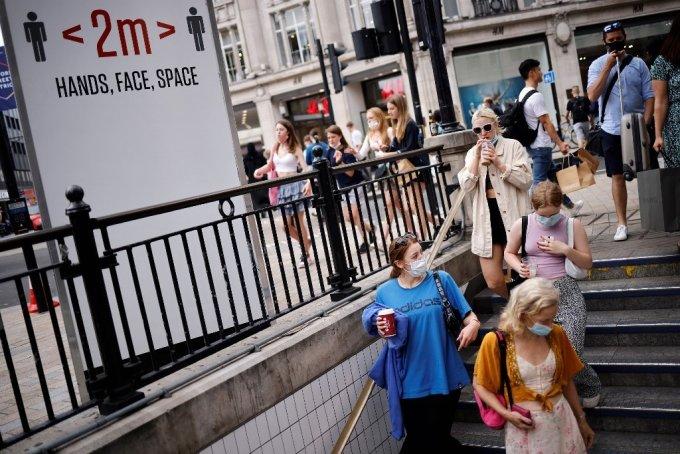 지난 6일 런던 시내의 모습/사진=AFP