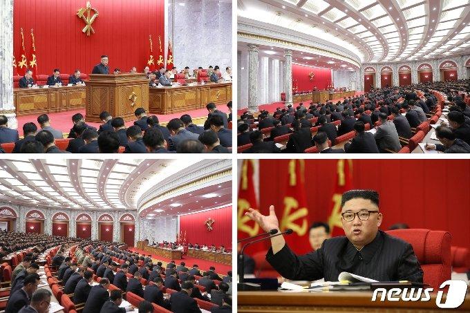 """[사진] 북한, 전원회의 개막…""""당·국가 주요정책 집행 중간 총화"""""""