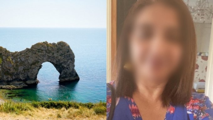 영국에서 딸과 여행을 떠났던 40대 여성이 절벽에서 추락해 숨지는 안타까운 사고가 벌어졌다. 사진은 더들도어 절벽(왼쪽)과 사망한 타히라 자빈(오른쪽). /사진=게티이미지뱅크·저스트기빙(JustGiving)