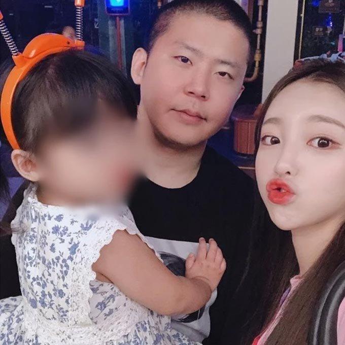 BJ철구, 외질혜와 그의 딸의 모습/사진=외질혜 인스타그램
