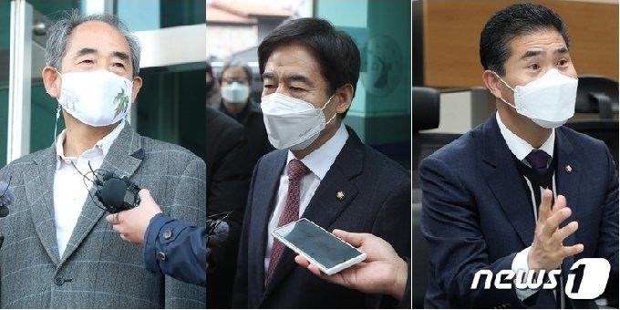 윤준병 국회의원(왼쪽부터), 이용호 국회의원, 이원택 국회의원/뉴스1