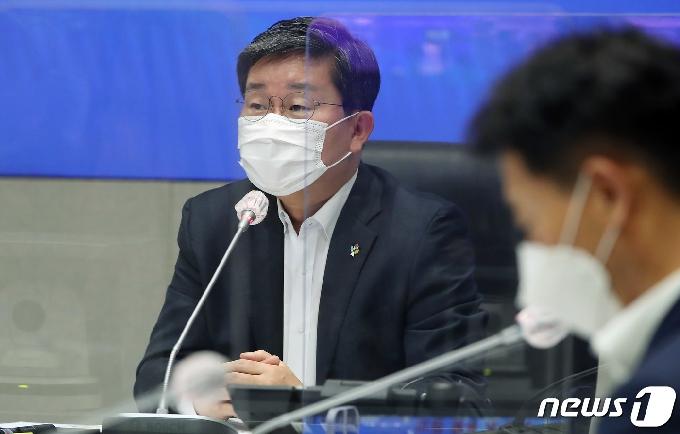 [사진] 전해철 장관, 안전정책조정위원회의 모두발언