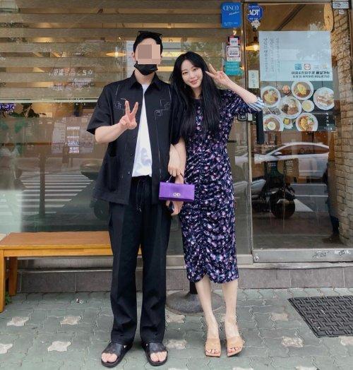 배우 한예슬-류성재 커플/사진=한예슬 인스타그램