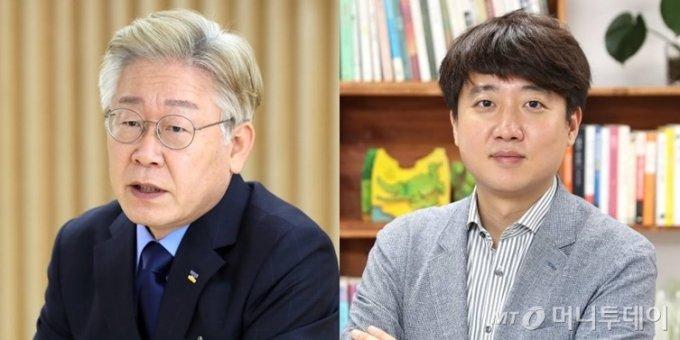 이재명 경기도지사(왼쪽), 이준석 국민의힘 대표/사진=이기범 기자