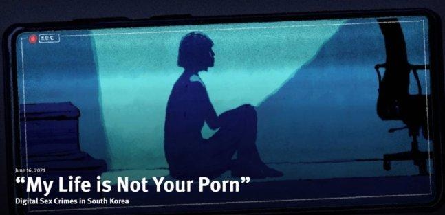 휴먼라이츠워치(HRW)가 공개한 '내 인생은 당신의 포르노가 아니다' 보고서 /사진=HRW 홈페이지 캡처