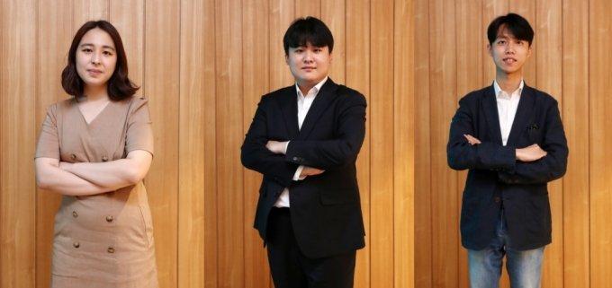 (왼쪽부터)김지원 레드윗 대표, 이상민 뉴빌리티 대표, 최훈민 테이블매니저 대표 /사진=김휘선 기자 hwijpg@