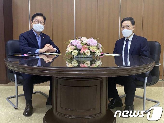 [사진] 檢 직제개편안·중간간부 인사 논의한 박범계·김오수