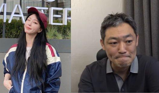 배우 한예슬, 유튜버 김용호(오른쪽)/사진=한예슬 인스타그램, 유튜브 채널 '김용호연예부장' 캡처