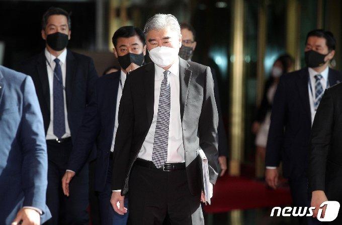 성 김 미국 국무부 대북특별대표. 2021.6.22/뉴스1 © News1 ,송원영 기자