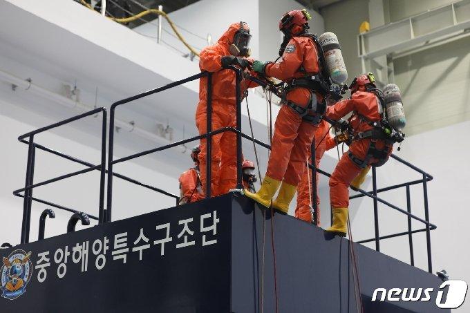 중특단 실전훈련 시연모습.2021.06.25© 뉴스1 손연우 기자