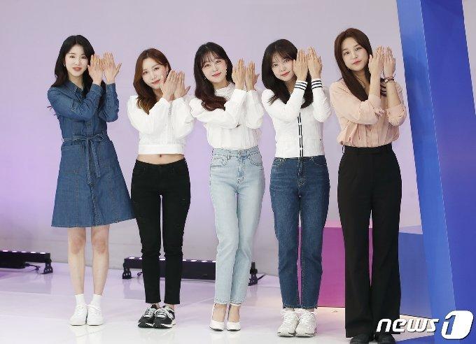 그룹 라붐(LABOUM) 지엔(왼쪽부터), 소연, 유정, 해인, 솔빈© News1