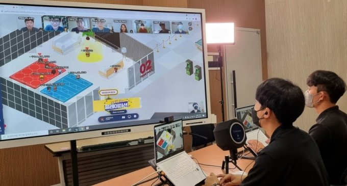 LG디스플레이가 새롭게 도입한 메타버스 신입사원 교육 현장. /사진제공=LG디스플레이