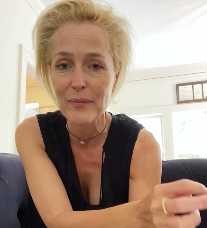 미국 배우 질리언 앤더슨/사진=질리언 앤더슨 인스타그램
