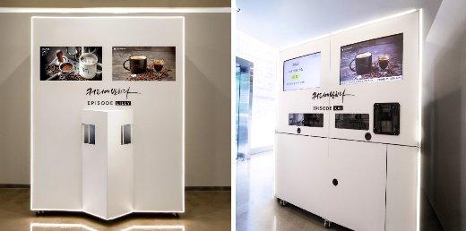 커피에반하다가 자체 기술개발을 통해 출시한 로봇바리스타 에피소드 시리즈 이미지/사진제공=커피에반하다