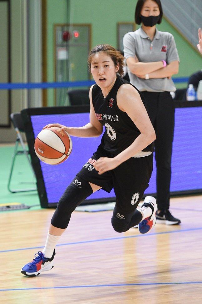 신한은행전에서 26점을 올리며 팀 승리를 이끈 BNK 썸 노현지. /사진=WKBL 제공