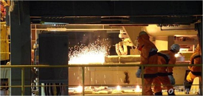 포스코 광양제철소 철분말 제조 현장. /사진제공=포스코