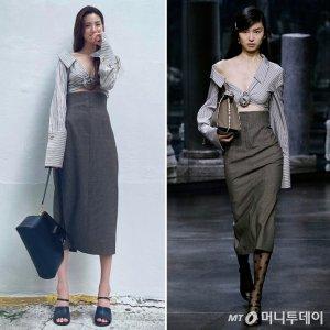나나 vs 모델, 아찔한 볼륨 드러낸 '979만원' 패션…