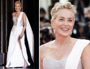 '64세' 샤론 스톤, 걸을 때마다 '아찔'…찬사 쏟아진 칸 드레스 3