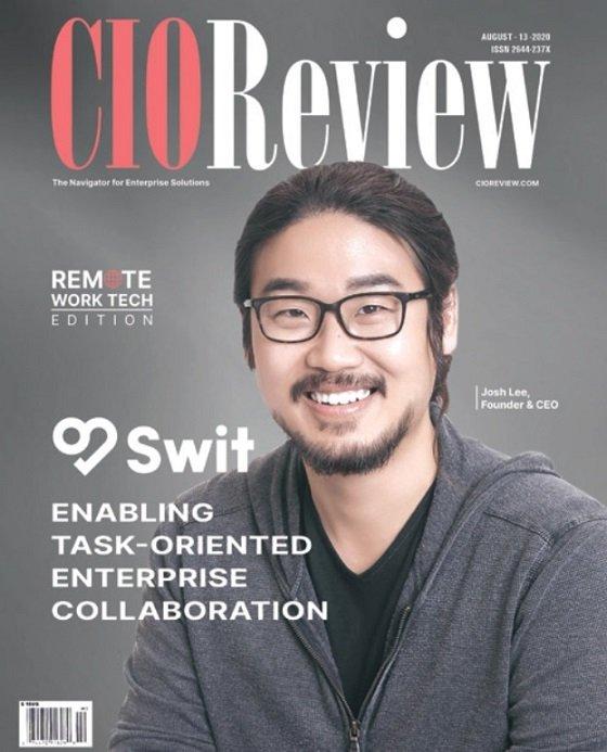 지난 2020년, 미국 실리콘밸리의 IT 전문지 'CIO 리뷰' 커버스토리에 실린 스윗테크놀로지/사진=CIO리뷰 캡쳐