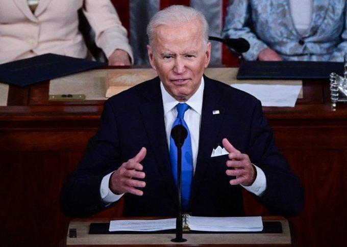 의회연설 중인 조 바이든 미국 대통령 /사진=AFP