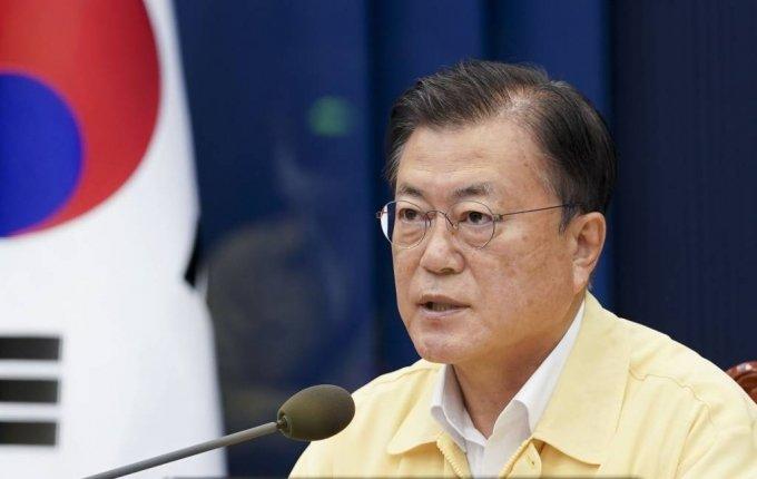 [서울=뉴시스] 문재인 대통령이 20일 청와대에서 열린 제31회 국무회의에서 발언하고 있다. (사진=청와대 제공) 2021.7.20. photo@newsis.com *재판매 및 DB 금지