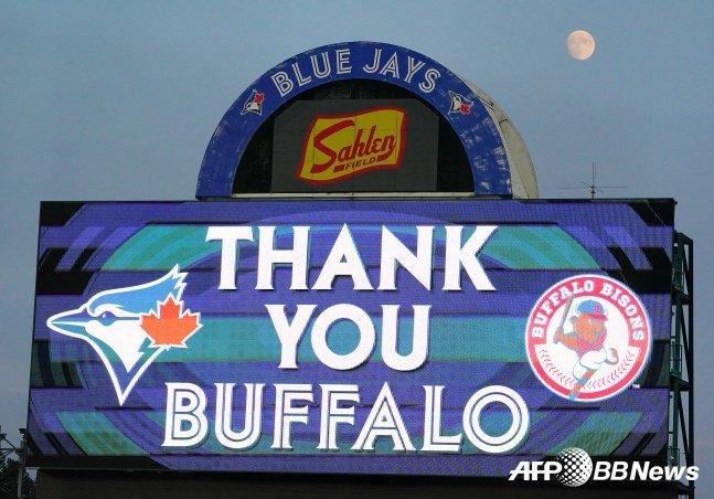 토론토 블루제이스 구단은 22일(한국시간) 버펄로팬들에게 감사 인사를 보냈다./AFPBBNews=뉴스1