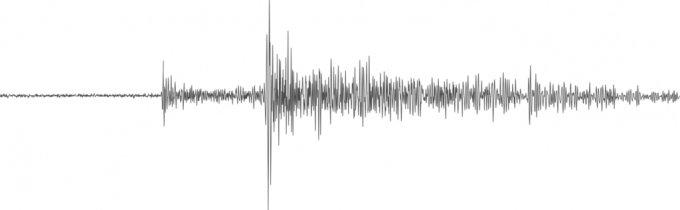 2019년 7월 25일 인사이트 지진계가 감지한 지진파. /자료=나사 제트추진연구소