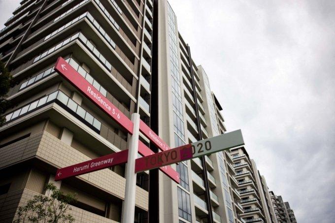 도쿄올림픽 선수촌 주거용 건물 /사진=AFP