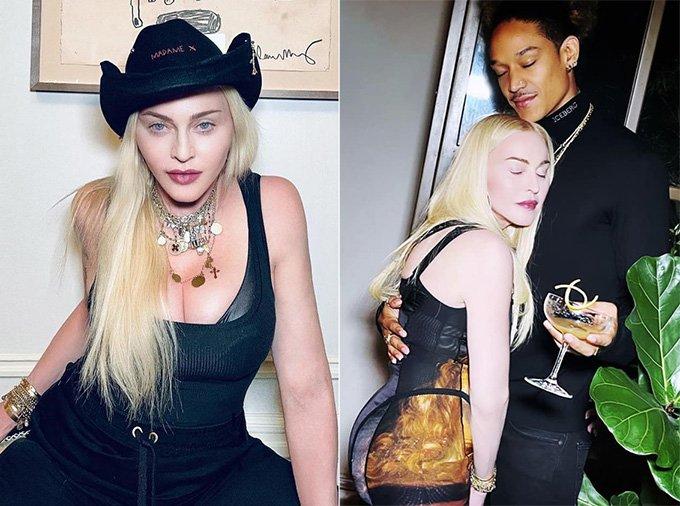 가수 마돈나와 남자친구 알라말릭 윌리엄스 /사진=가수 마돈나 인스타그램