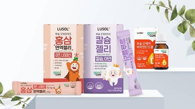 루솔이 론칭한 건강기능식품 브랜드 '굿케어' 신제품 3종/사진제공=루솔