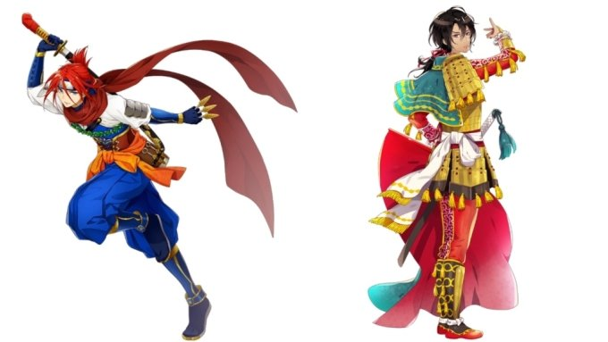 일본의 한 예술가 단체가 도쿄 올림픽 참가국 국기를 바탕으로 사무라이 캐릭터를 제작해 화제가 되고 있다. 사진은 대한민국을 표현한 캐릭터. 사진은 파라과이 캐릭터(왼쪽)와 스페인 캐릭터(오른쪽). /사진='월드 플래그스'(World Flags) 홈페이지