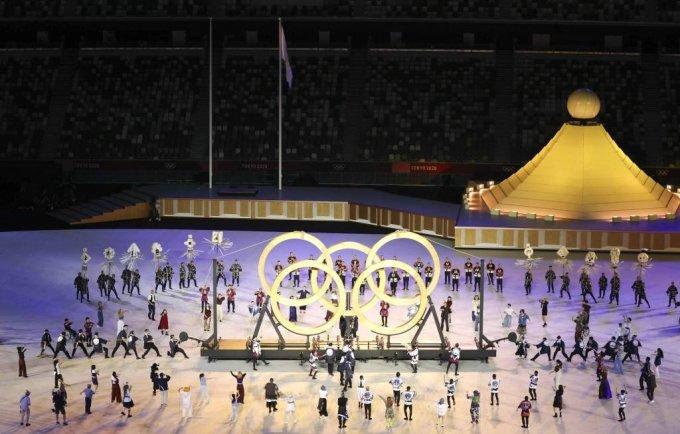 [도쿄(일본)=뉴시스] 최진석 기자 = 23일 도쿄 신주쿠 국립경기장에서 2020 도쿄올림픽 개막식이 열리고 있다. 2021.07.23. myjs@newsis.com