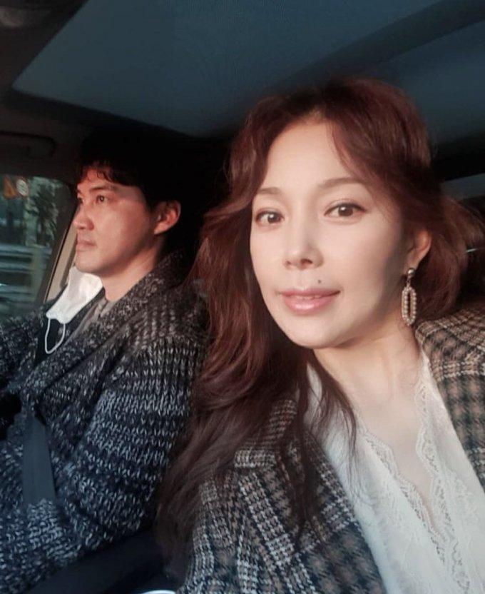 전 야구선수 홍성흔(왼쪽) 김정임 /사진=김정임 인스타그램