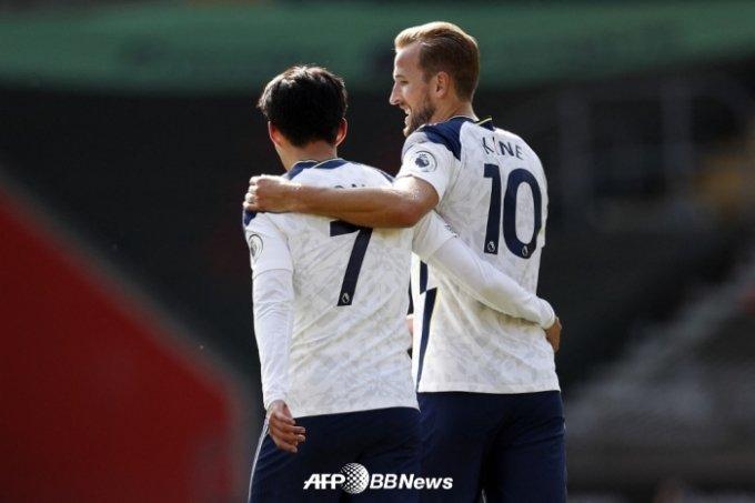 손흥민(왼쪽)과 케인. /AFPBBNews=뉴스1